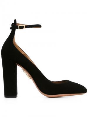 Туфли с завязками на щиколотке Aquazzura. Цвет: чёрный