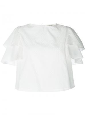 Ruffled sleeve blouse Daniele Carlotta. Цвет: белый