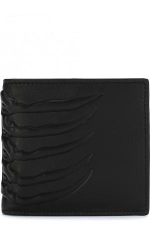 Кожаное портмоне с отделениями для кредитных карт Alexander McQueen. Цвет: черный