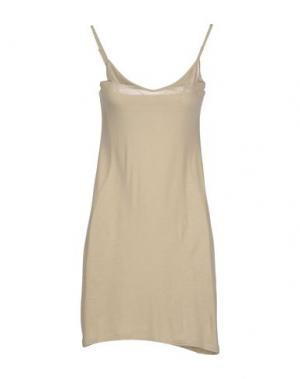 Короткое платье APPARTAMENTO 50. Цвет: бежевый