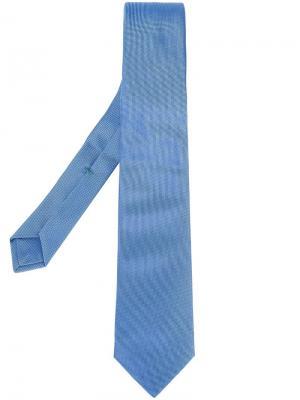 Жаккардовый галстук Borrelli. Цвет: синий