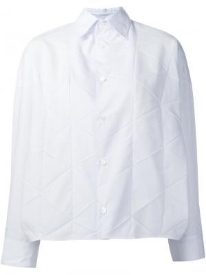 Рубашка с панельным дизайном Junya Watanabe Comme Des Garçons. Цвет: белый