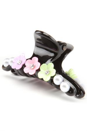 Заколка-краб Asavi Jewel. Цвет: черный, зеленый, розовый