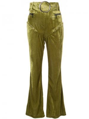 Расклешенные брюки с завышенной талией Neith Nyer. Цвет: зелёный