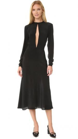 Шелковое платье pushBUTTON. Цвет: голубой