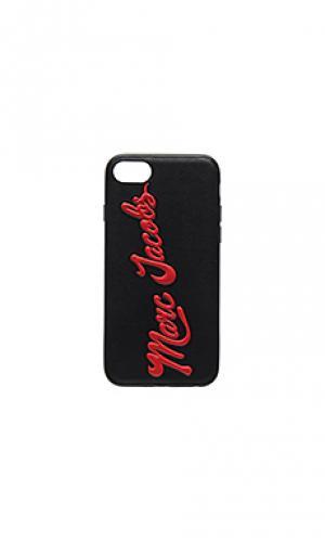 Чехол для iphone 7 glossy marc Jacobs. Цвет: черный