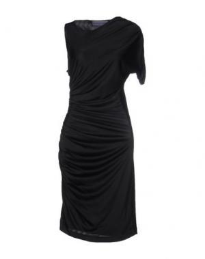 Платье до колена EMANUEL UNGARO. Цвет: черный
