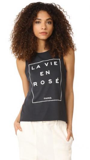 Майка La Vie En Rose South Parade. Цвет: дымчато-черный