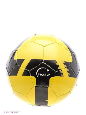 Мяч футбольный для отдыха Start Up. Цвет: черный, желтый