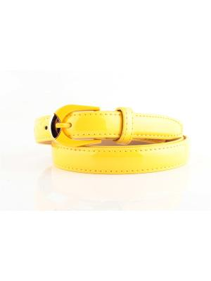 Ремень женский IND-0223 INDIVIDUUM. Цвет: желтый