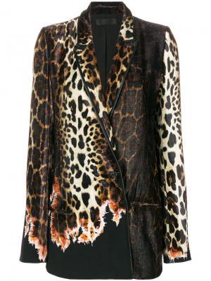 Пиджак Ernest с леопардовым узором Haider Ackermann. Цвет: коричневый