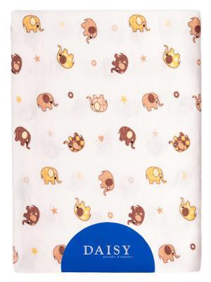 Пеленка Трикотаж 90х120 Слоники DAISY. Цвет: терракотовый, кремовый, светло-коричневый, светло-оранжевый, светло-желтый