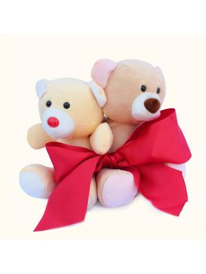 Мягкая игрушка Медвежата с бантком 31.34.2 цвет бежевый-коричневый Malvina. Цвет: бежевый, коричневый