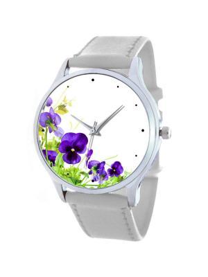 Дизайнерские часы Анютины Глазки Tina Bolotina. Цвет: белый, синий, светло-зеленый