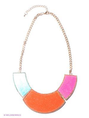 Колье Infiniti. Цвет: оранжевый, розовый, золотистый, бирюзовый