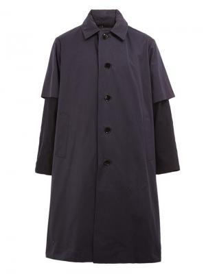Пальто с многослойными рукавами 08Sircus. Цвет: синий