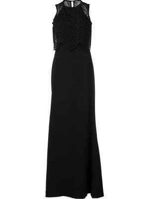 Sleeveless gown dress Badgley Mischka. Цвет: чёрный