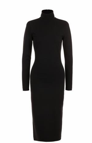 Платье-футляр с длинным рукавом и воротником-стойкой Dsquared2. Цвет: черный