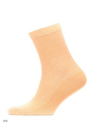 Носки женские, 3 пары HOSIERY. Цвет: оранжевый