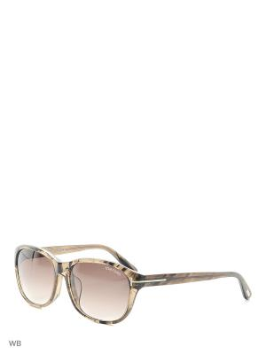 Солнцезащитные очки FT 0396-F 50K Tom Ford. Цвет: коричневый
