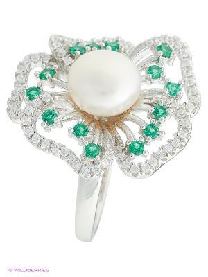 Кольцо BALEX. Цвет: белый, зеленый, серебристый