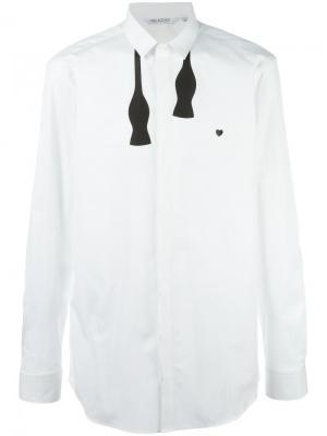 Рубашка с галстуком-бабочка Neil Barrett. Цвет: белый