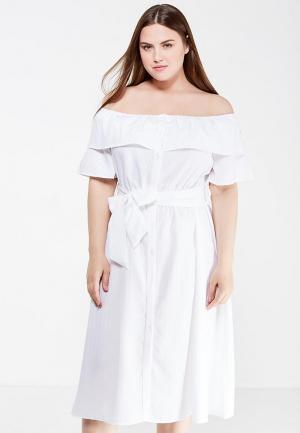 Платье LOST INK PLUS. Цвет: белый