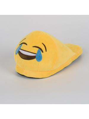 Тапки-смайлики Смеюсь до слез открытые SOXshop. Цвет: желтый