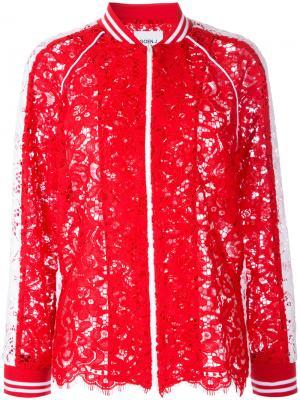 Кружевная куртка-бомбер Goen.J. Цвет: красный