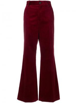 Расклешенные вельветовые брюки Marc Jacobs. Цвет: красный