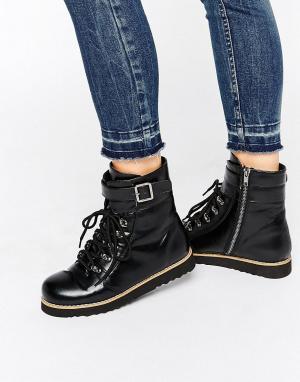 Park Lane Ботинки в походном стиле с подошвой EVA от. Цвет: черный