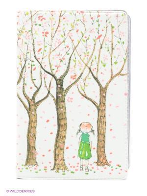 Визитница Цветущие яблони Mitya Veselkov. Цвет: белый, коричневый