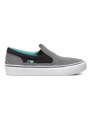 Слипоны DC Shoes. Цвет: серый, черный, зеленый