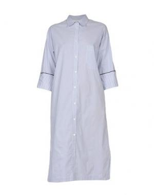 Платье до колена SUOLI. Цвет: синий