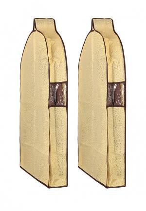 Комплект чехлов для верхней одежды 2 шт. El Casa. Цвет: желтый