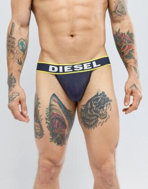 Diesel Черные/желтые трусы. Цвет: черный