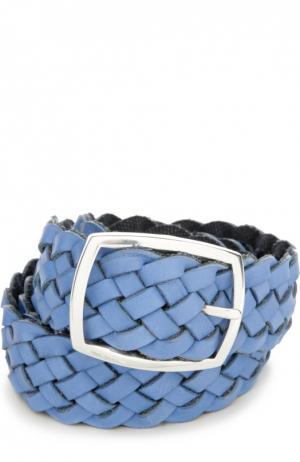 Ремень Andrea Campagna. Цвет: голубой