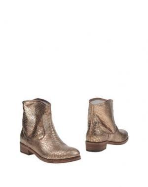 Полусапоги и высокие ботинки ALBERTO GOZZI. Цвет: бронзовый