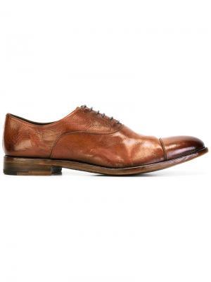 Классические туфли со шнуровкой Alberto Fasciani. Цвет: коричневый
