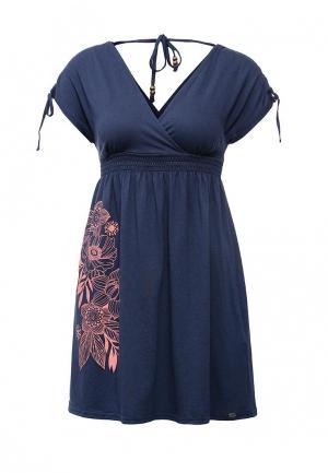 Платье Animal. Цвет: синий
