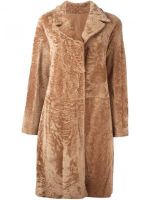 Пальто-дубленка Drome. Цвет: коричневый