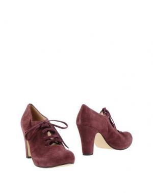 Обувь на шнурках U-TURN. Цвет: баклажанный