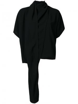 Драпированная блузка Maison Margiela. Цвет: чёрный