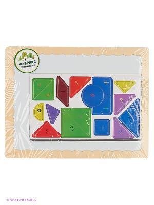 Деревянная игрушка Доска для рисования с пазлами Фабрика Фантазий. Цвет: бежевый