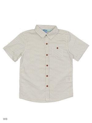 Рубашка Modis. Цвет: бежевый, молочный