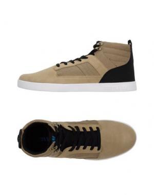 Высокие кеды и кроссовки SUPRA. Цвет: песочный