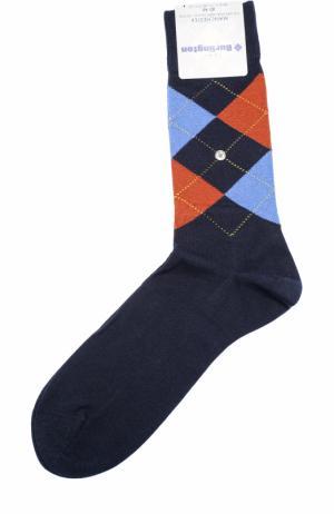 Хлопковые носки Manchester Burlington. Цвет: темно-синий