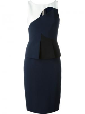 Clarence dress Roland Mouret. Цвет: синий
