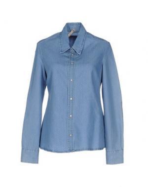 Джинсовая рубашка FLY GIRL. Цвет: синий