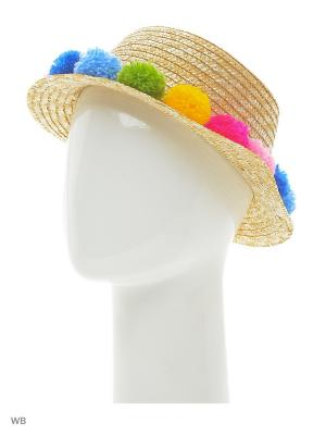Шляпа канотье TipTopHat. Цвет: светло-желтый